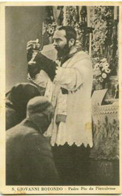 1928 Padre Pio courtesy of Archivio Alberindo Grimani