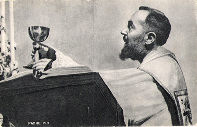 Padre Pio with the chalice