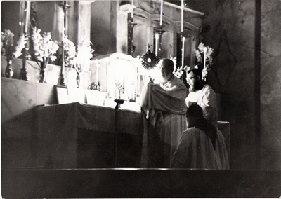 Padre Pio at Benediction