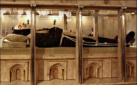 Padre Pio on view for public veneration