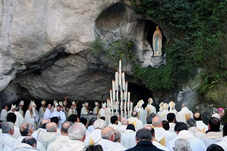Ceremony at The Grooto in Lourdes