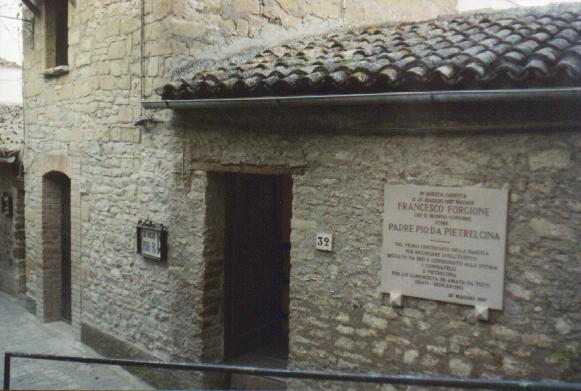 The house where Padre Pio was born